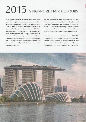 シンガポール資生堂のカラーテクニックブック